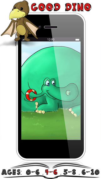 Dino Beach Ages 4-6 Kids Stories By Appslack - Interactive Childrens Reading Books
