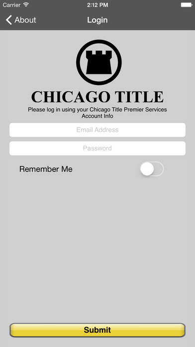 Chicago Title Now iPhone Screenshot 1