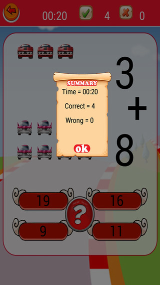 First Grade Math Game For Roary Car Version