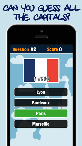 World Capitals Game - Recognize the flag and guess the capital of the country