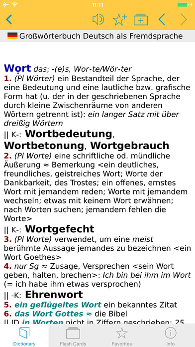 German Learner's Dictionary Langenscheidt iPhone Screenshot 5