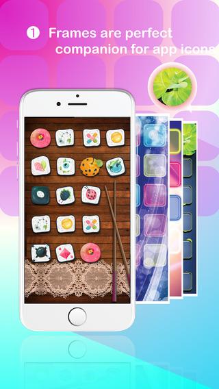 Premium App Frames ® - Custom made frame icon texture to decorate screen of iPhone 6 6 Plus iOS 8