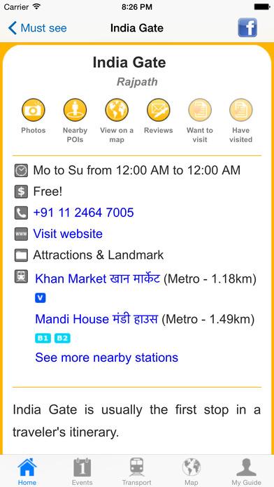 New Delhi Travel Guide Offline iPhone Screenshot 5