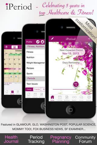 iperiod ultimate period menstrual calendar healthcare fitness. Black Bedroom Furniture Sets. Home Design Ideas