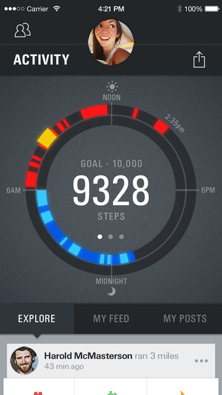 Record by Under Armour - Fitness Training Activity Sleep Tracking Weight Loss Community
