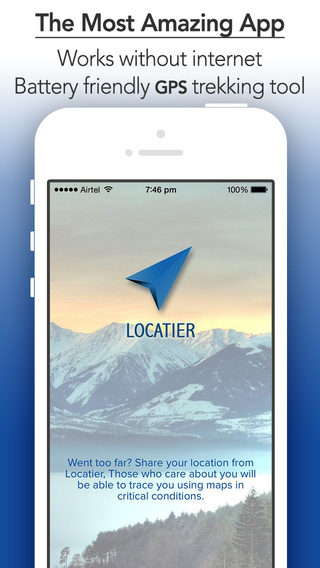 Locatier - Offline GPS Compass Navigation Tool for Routing by Longitude and Latitude on map