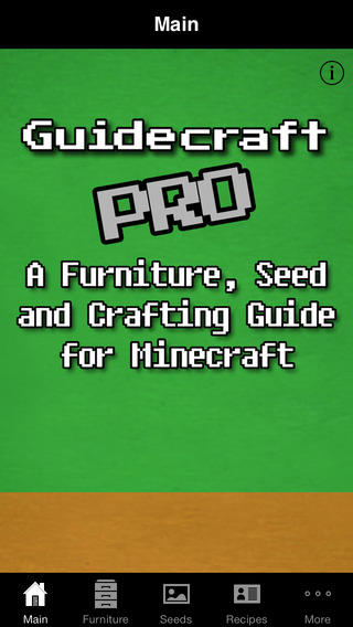 Guidecraft Pro - Seeds Furniture Ideas and Crafting Guide for Minecraft