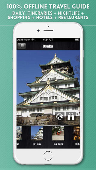 Osaka Travel Guide with Offline City Street and Metro Maps