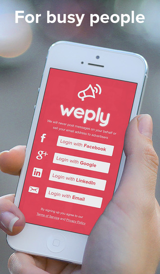 Weply - Voice messages easily sent over email texts and posts