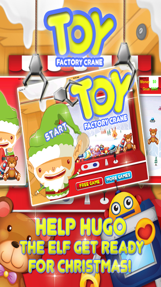 Santa's Elf Toy Factory Crane - Load up the Christmas Presents FREE