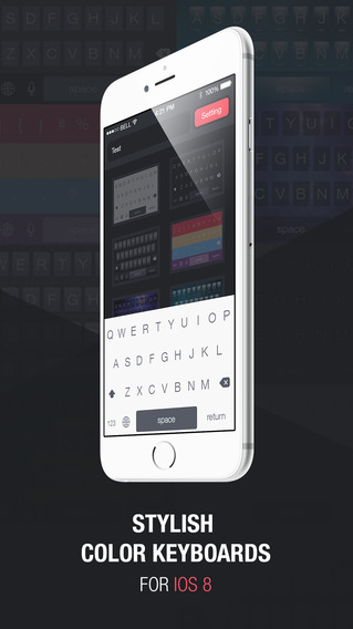 Color Keyboard Skins Pro - Custom Keyboard Design Themes for iOS8