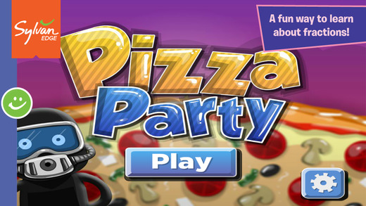 Pizza Party Math Fun With Fractions A Sylvan Edge App