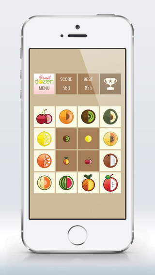 Fruit Dozen: new ultimate fastpaced finger challenging matching game for all family.