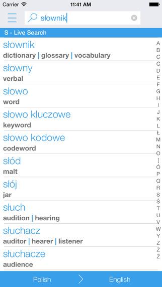 Polish English Dictionary and Translator Słownik polsko – angielski