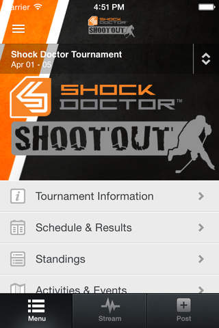 Shock Doctor Tournament App screenshot 2