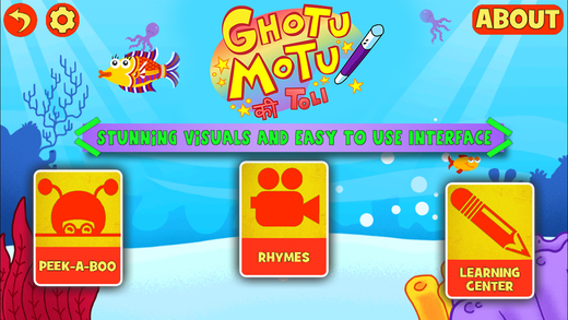 Ghotu Motu Ki Toli - Nursery Rhymes for Indian Kids Learn Counting in Hindi English and Play Games