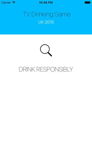 TV Drinking Game UK 2015