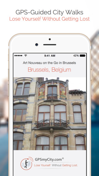 Art Nouveau on the Go in Brussels (Lite Version) iPhone Screenshot 1