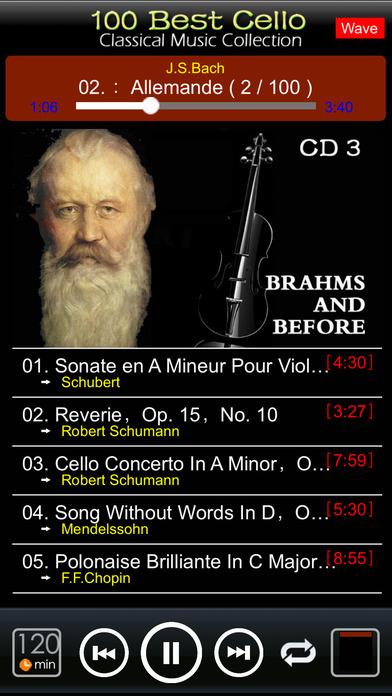 Classic Cello [100 Classical music] iPhone Screenshot 2