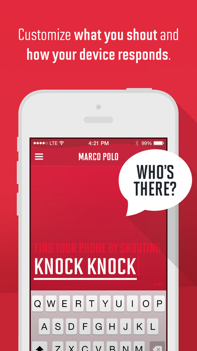 Marco Polo: Find Your Phone by Shouting MARCO! Screenshots