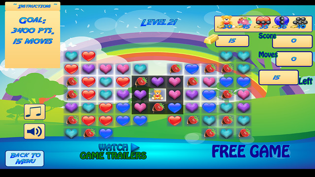 Candy Hearts Saga - Valentines match 3 adventure