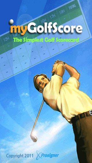 myGolfCard - The Simplest Golf Scorecard iPhone Screenshot 5