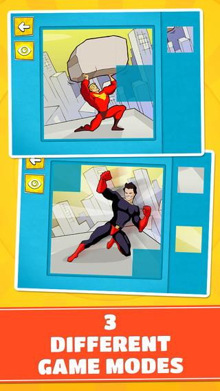 玩免費遊戲APP|下載Superheroes Team Puzzles - Cool Logic Game for Toddlers, Preschool Kids and Little Boys app不用錢|硬是要APP