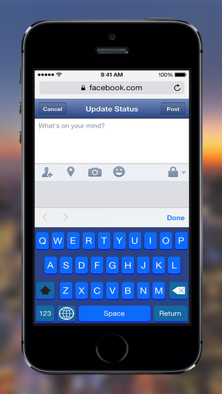 Color Keyboard - Blue Keyboard Skin Custom Keyboard System Wide For All Your Apps