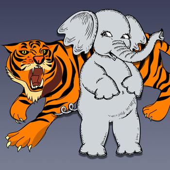 Elephant vs Tiger LOGO-APP點子