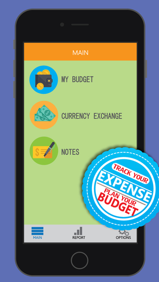 Money Organizer - Currency Convertor Cashflow Budgeting tool finance assistant