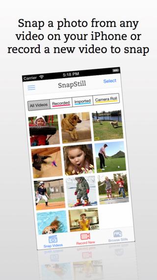 提取视频瞬间:SnapStill