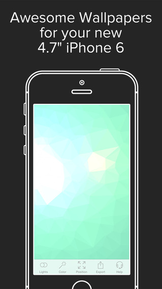 Low Poly Wallpaper Lock Screen Generator with Art Patterns Themes: optimized for 6 or 6 plus resolut