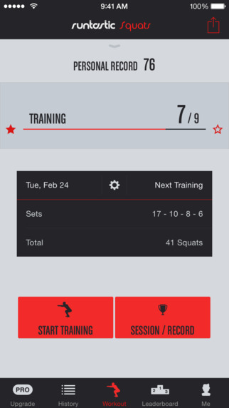 Runtastic Squats – Workouts Trainer Counter