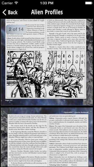 FSpace Roleplaying Concise Rulebook v4.1 iPhone Screenshot 4
