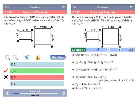 6 GRE Practice Tests (Math) iPad Screenshot 2