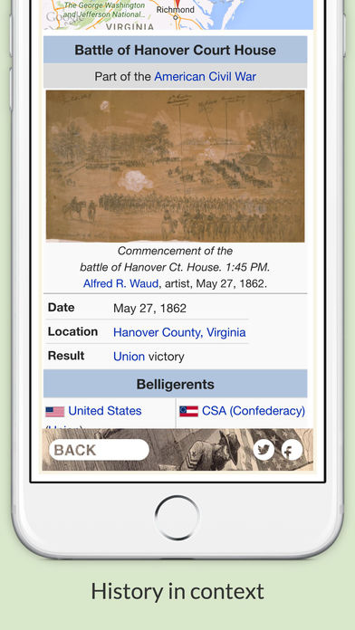 American Civil War Daily Lite iPhone Screenshot 4