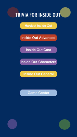Trivia Quiz Game For Inside Out