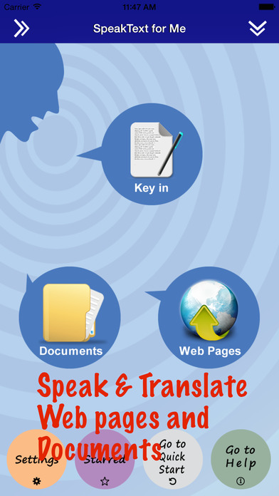 SpeakText for Office - Translate with voice (Touch Office documents, then Translate with voice) iPhone Screenshot 1