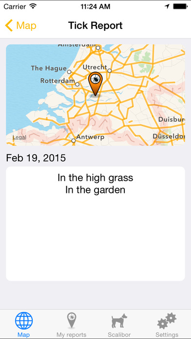 Tick Finder iPhone Screenshot 4