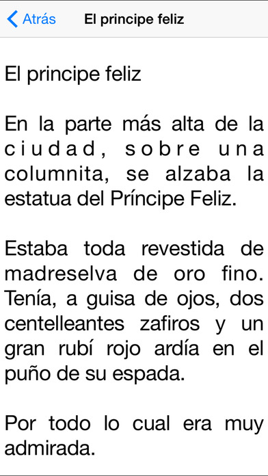 Cuentos de Oscar Wilde iPhone Screenshot 2