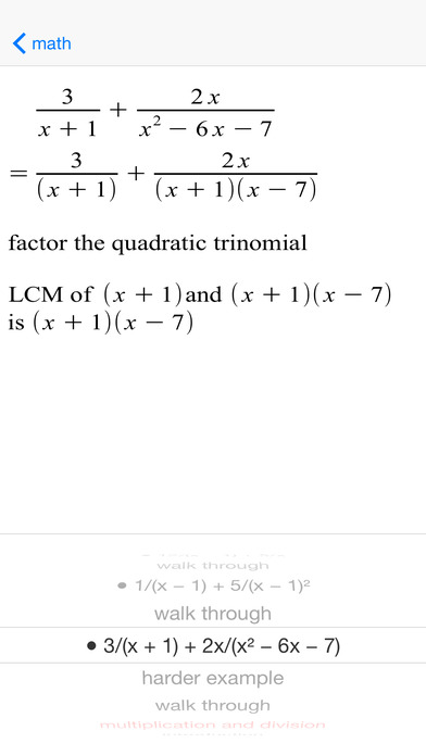 ARationalExp Rational Expressions iPhone Screenshot 3