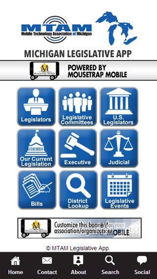 MTAM Michigan Legislative App