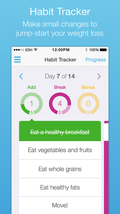 ... : Habit Tracker, Meal Planner & Weight Loss Program on the App Store