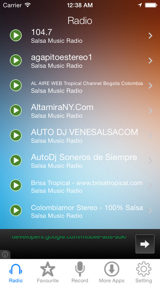 Salsa Music Radio Recorder
