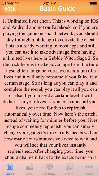 Guide for Bubble Witch Saga - All New Levels Walkthroughs Tips And More