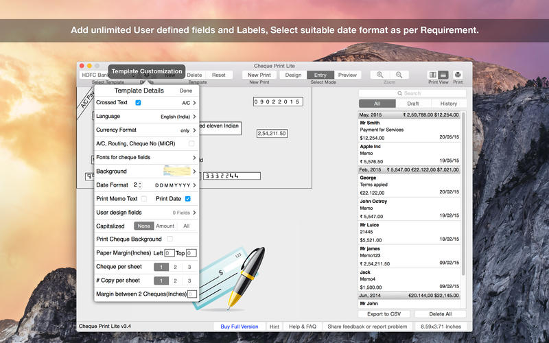 Cheque Print Lite Screenshot - 2