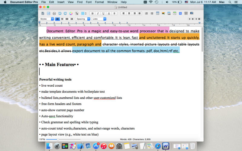 Document Editor Pro Screenshot - 2