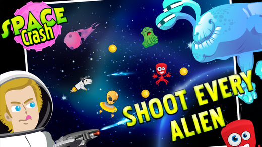 Space Crash - Super Galactic UFO vs. Cosmic Spaceship Shooter Game