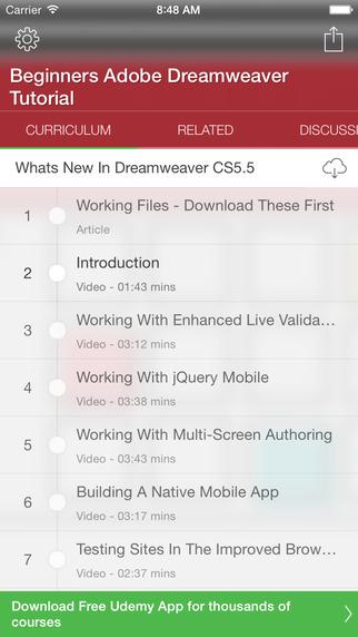 Tutorial for Dreamweaver
