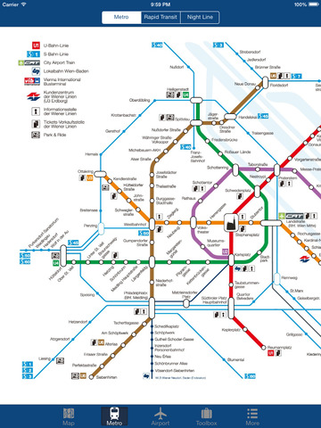 Vienna Offline Map - City Metro Airport Screenshots